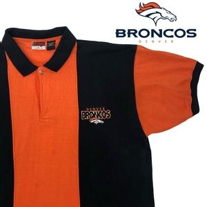 VTG 90s The Edge Denver Broncos NFL Polo Shirt